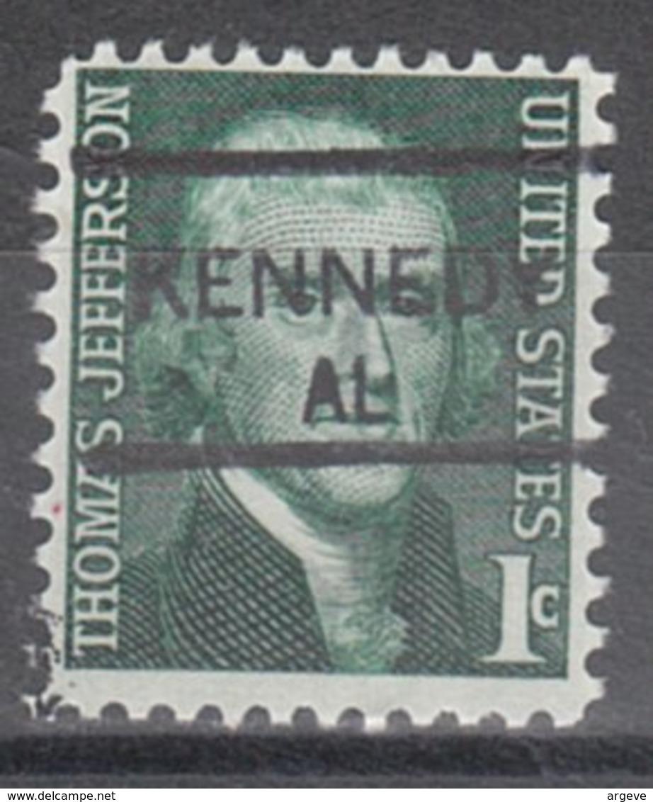 USA Precancel Vorausentwertung Preo, Locals Alabama, Kennedy 835,5 - Etats-Unis