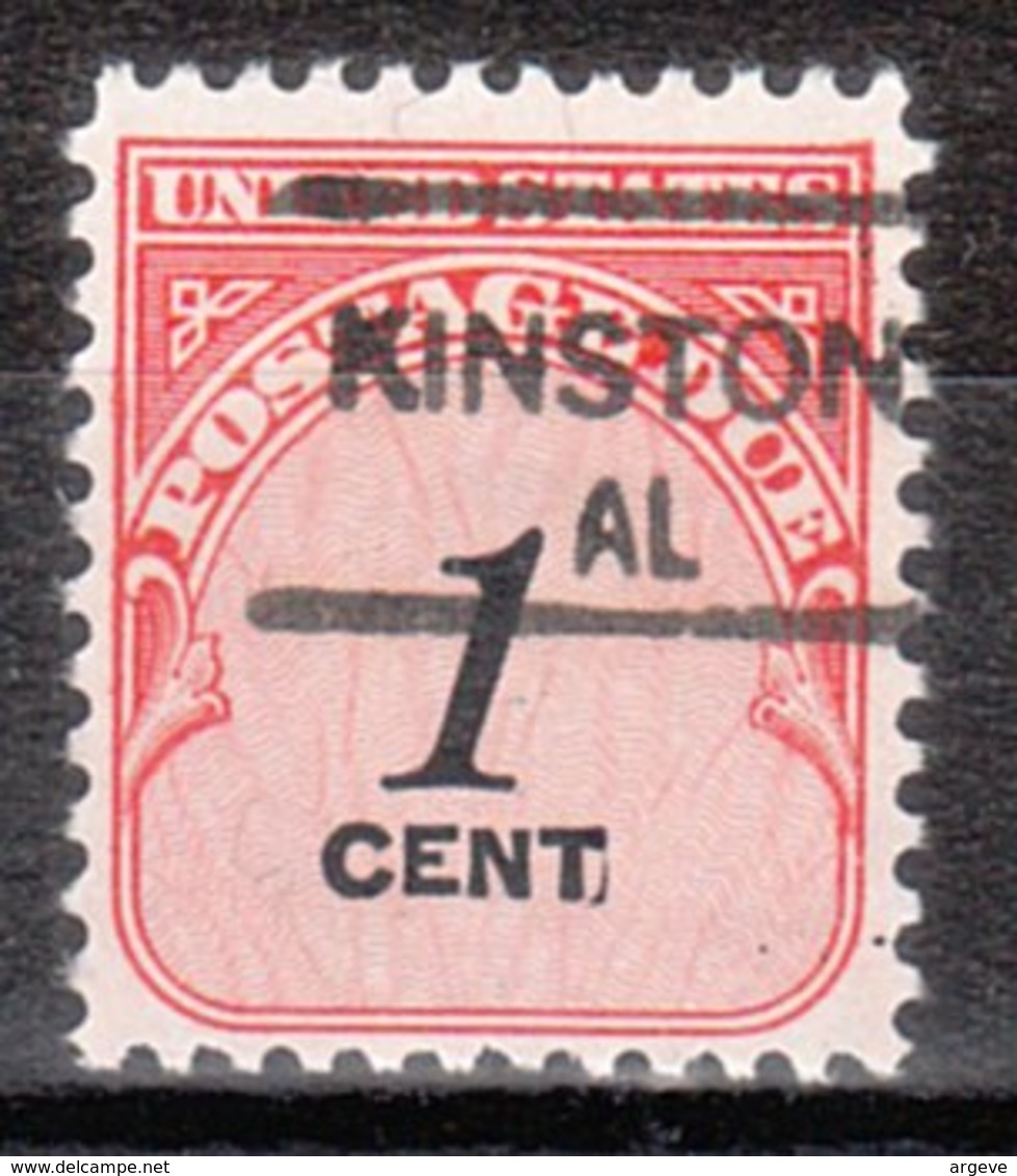 USA Precancel Vorausentwertung Preo, Locals Alabama, Kinston 835,5 - Etats-Unis