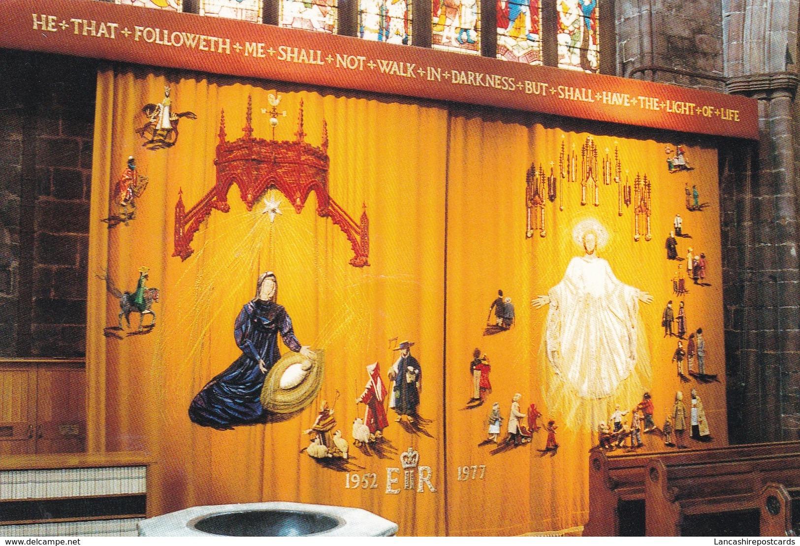 Postcard Jubilee Curtain St Mary's Parish Church Nantwich Cheshire My Ref  B23234 - England