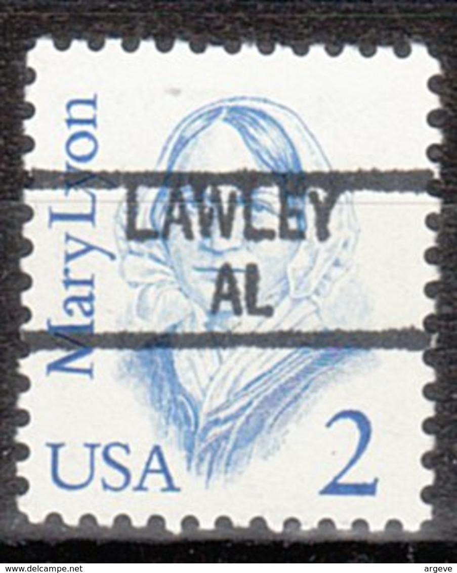 USA Precancel Vorausentwertung Preo, Locals Alabama, Lawley 841 - Etats-Unis