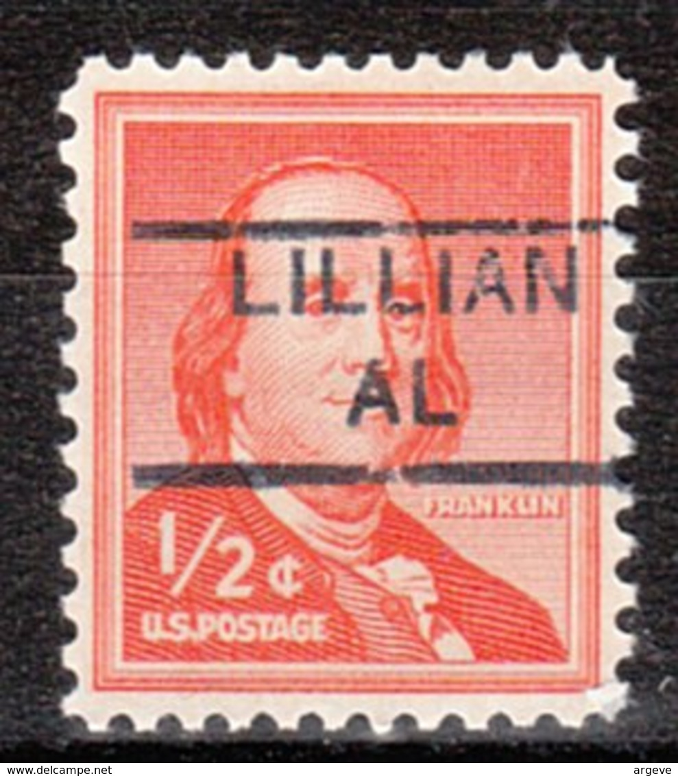 USA Precancel Vorausentwertung Preo, Locals Alabama, Lilian 852 - Etats-Unis