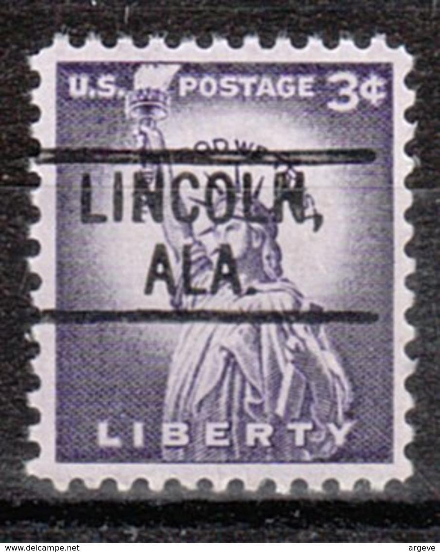 USA Precancel Vorausentwertung Preo, Locals Alabama, Lincoln 802 - Etats-Unis