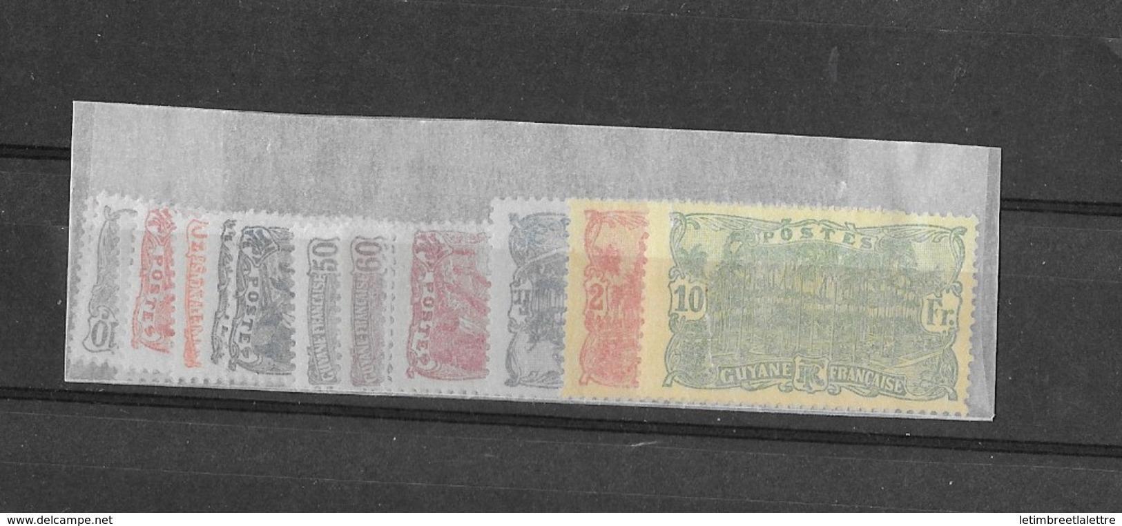 Guyane 75 à 89** Sans Le N°74 - Guyane Française (1886-1949)