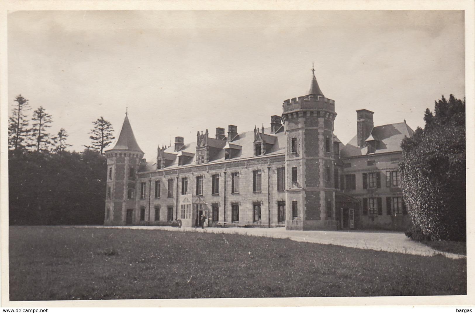 Photo Format Carte Postale Bretagne Chateau Le Cosquer 1921 - Lieux