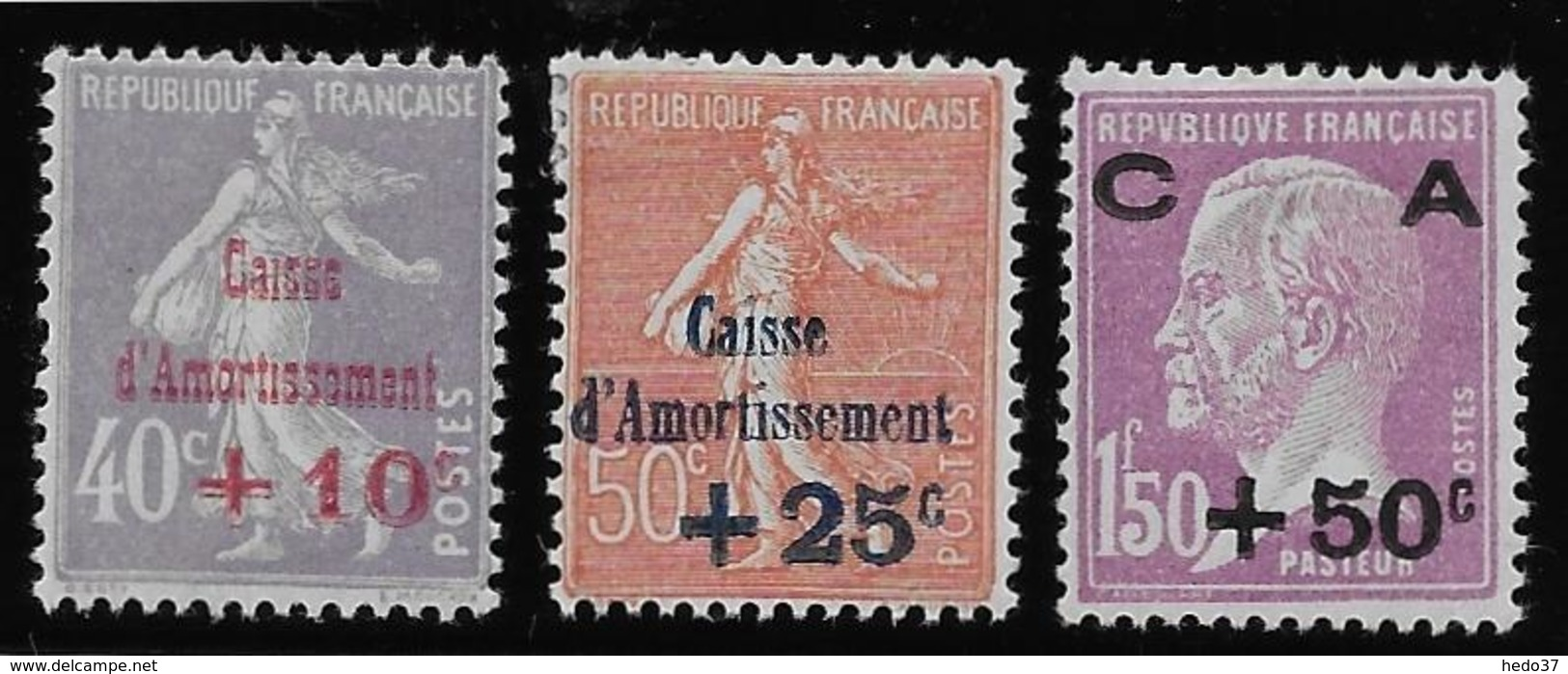 France N°249/251 - Neuf * Avec Charnière - TB - France