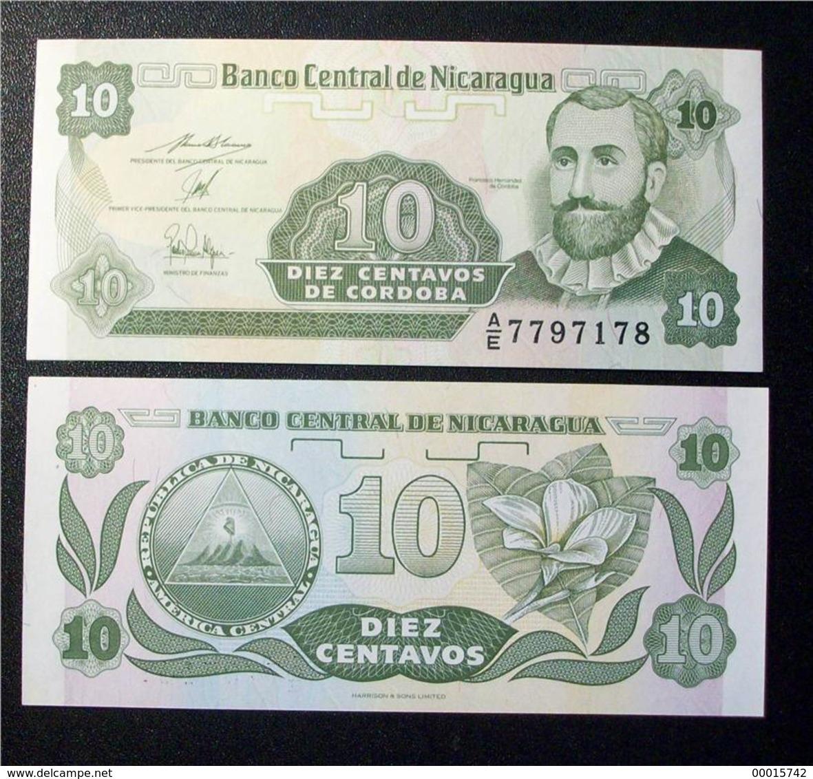 Nicaragua 10 Centavos 1991 P-169 UNC - Nicaragua