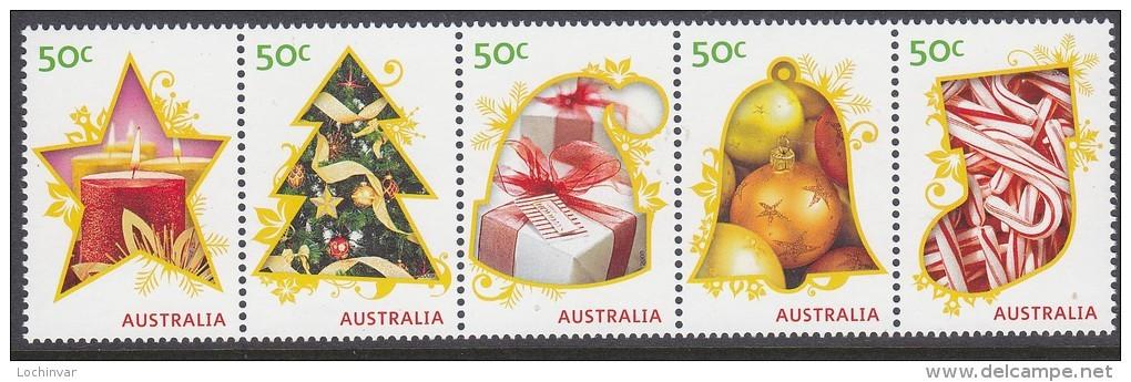 AUSTRALIA, 2009 XMAS STRIP 5 MNH - 2000-09 Elizabeth II