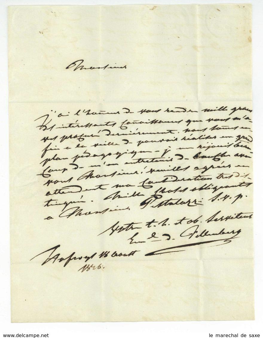 Philipp Emanuel Von FELLENBERG (1771-1844) Schweizer Pädagoge Agronom Landammann Bern Hofwil 1816 Autograph - Autographes