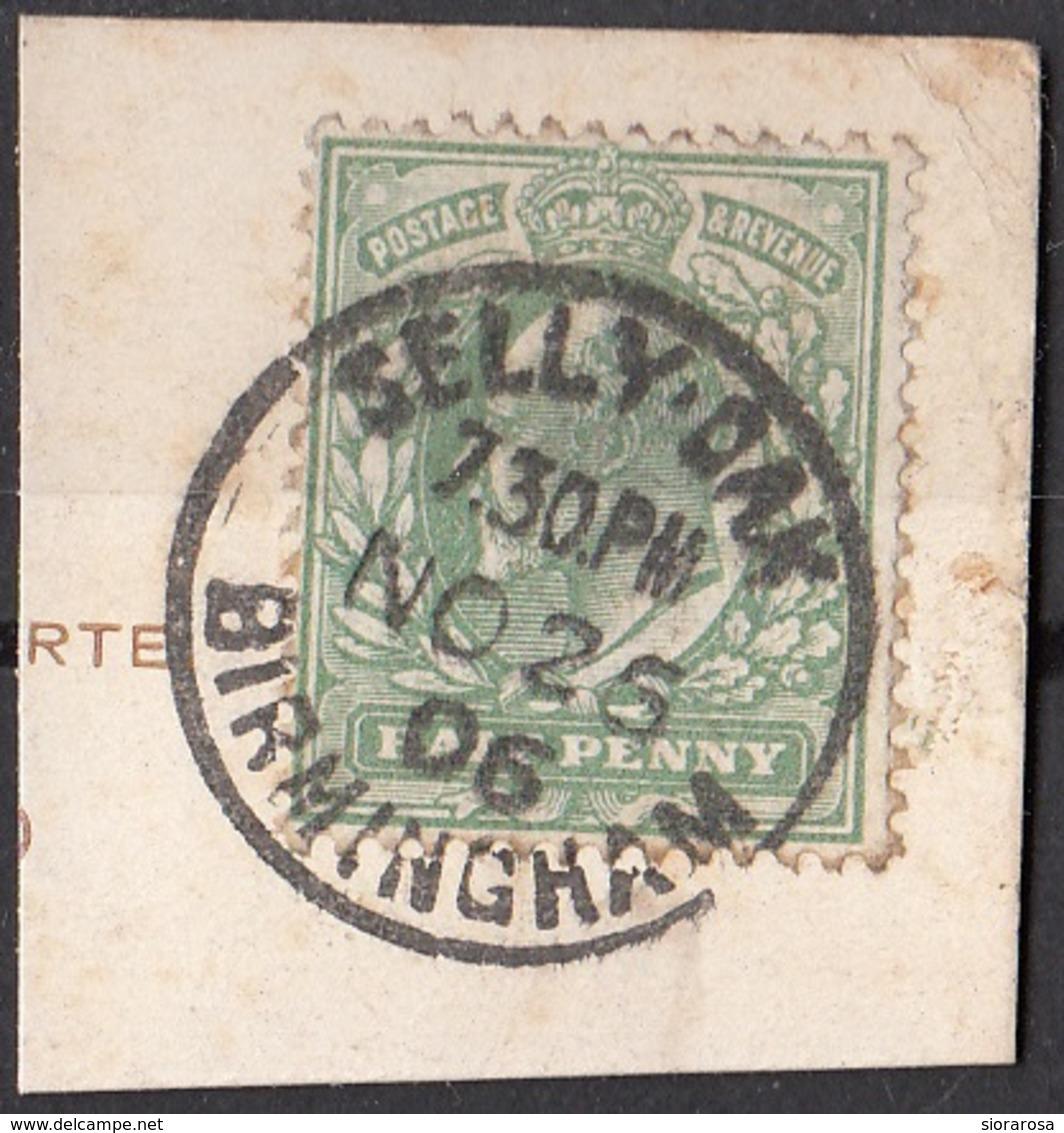 Regno Unito 1902 Sc. 127 King Edward VII Su Frammento On Paper Used - 1902-1951 (Re)