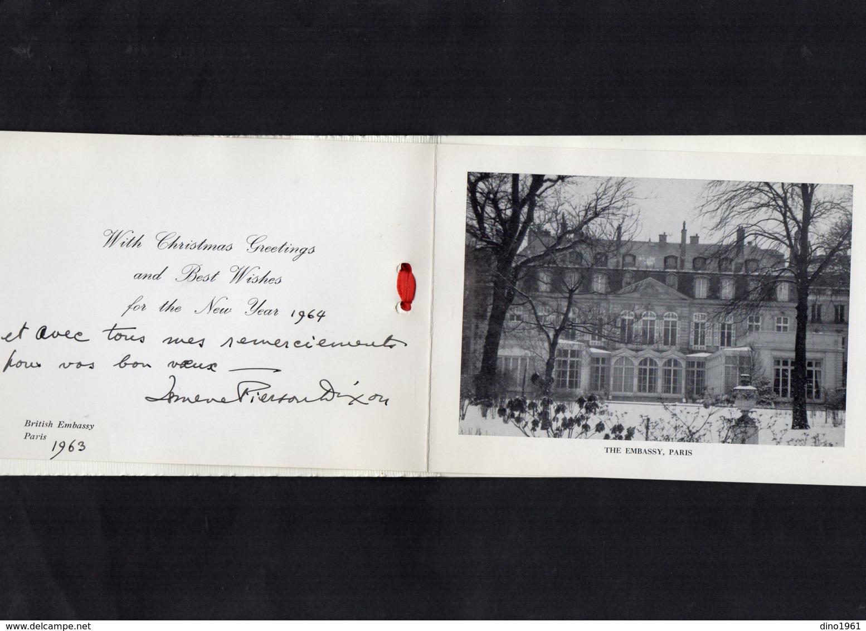 VP13.540 - PARIS 1963 - Noblesse - Autographe De Mme PIERSON DIXON Née Alexandra Ismene ATCHLEY - Autographes
