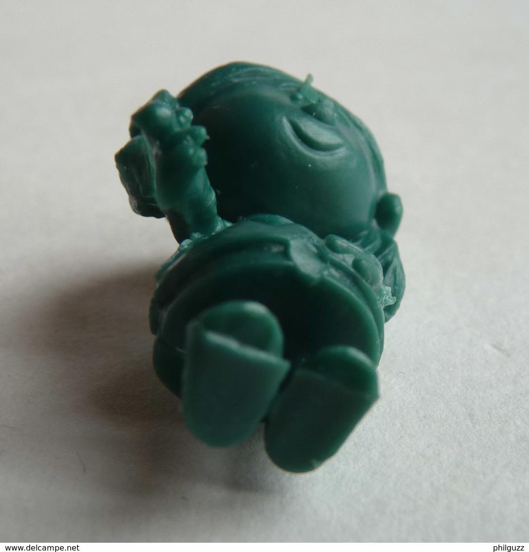 TRES RARE FIGURINE ORTF MANEGE ENCHANTE - MAGIC ROUNDABOUT - PIRATE RES PLASTIC - CORALIE VERT BOUTEILLE Pas DUNKIN - Figurines