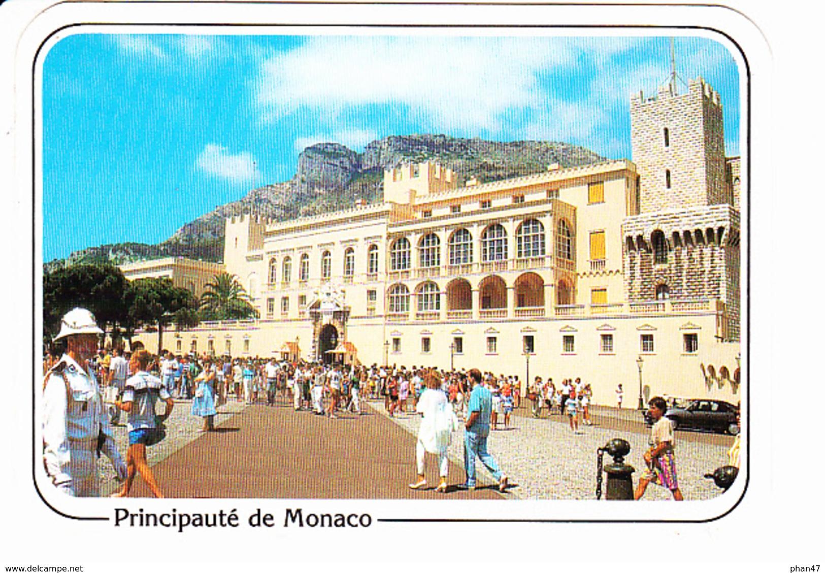 Principauté De MONACO, La Place Du Palais, Carabinier, Ed. La Cigogne 1990 - Palais Princier