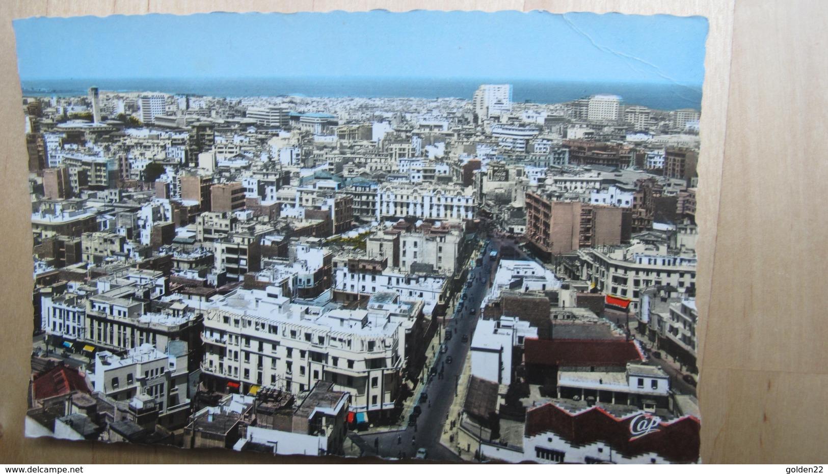CASABLANCA. Vue Générale. Les Boulevards D'Alsace, Leclerc Et Gambetta. - Casablanca