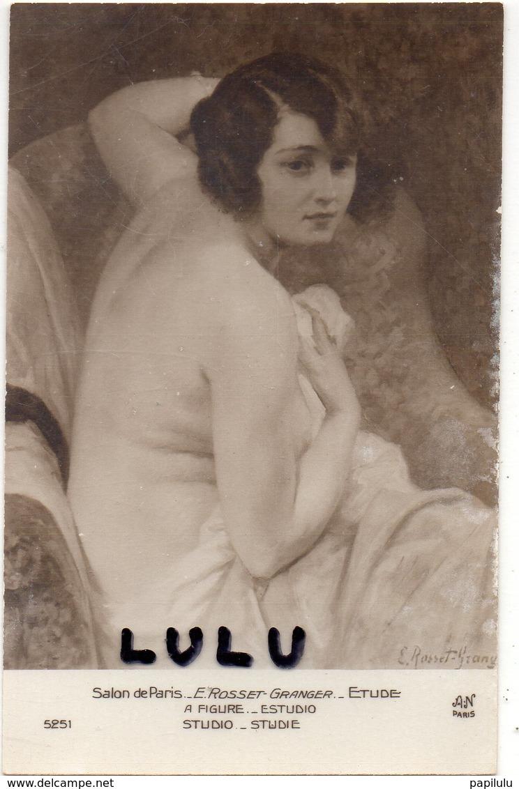 FEMMES 625 : étude Par E Rosset-Granger  ( Salon De Paris ) Femme Dévêtue - Femmes