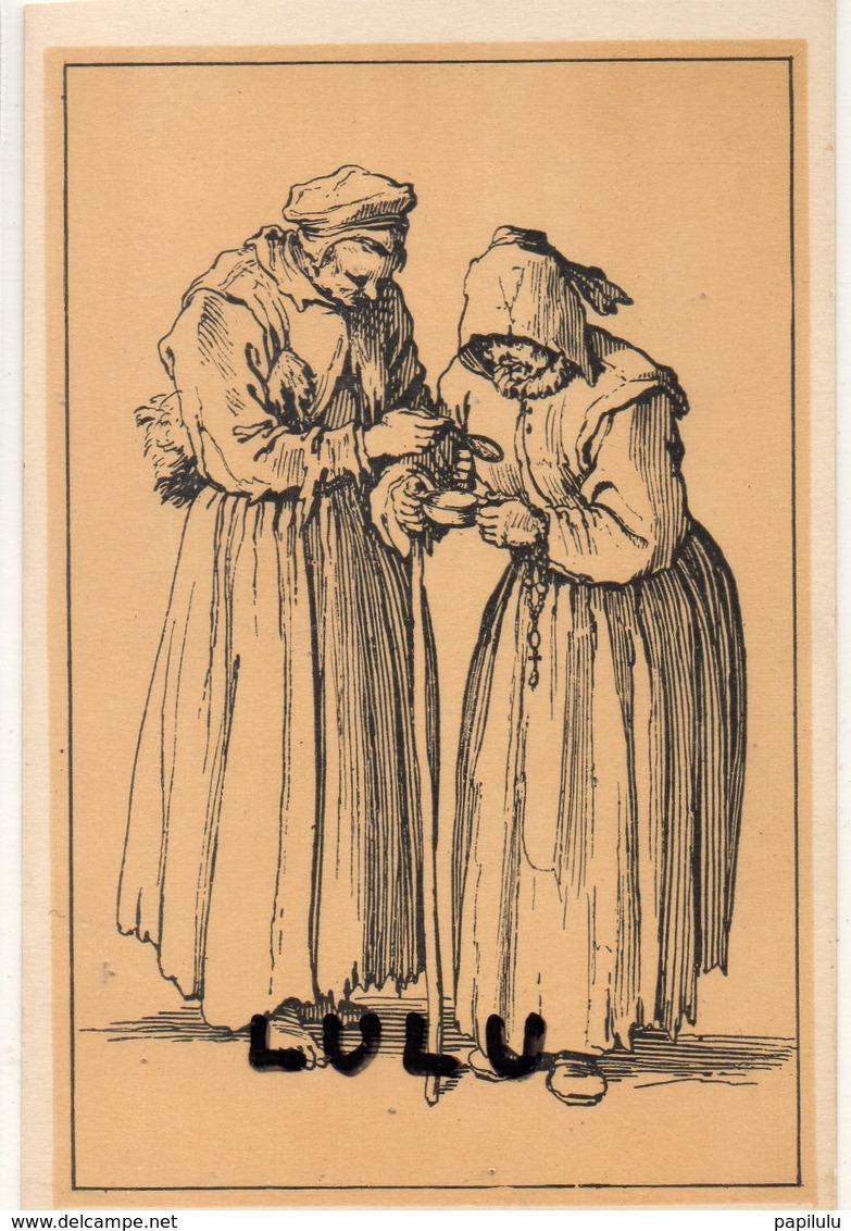 FEMMES 623 : Les Gueux Les Mendiantes Debout Par Jacques Callot - Femmes