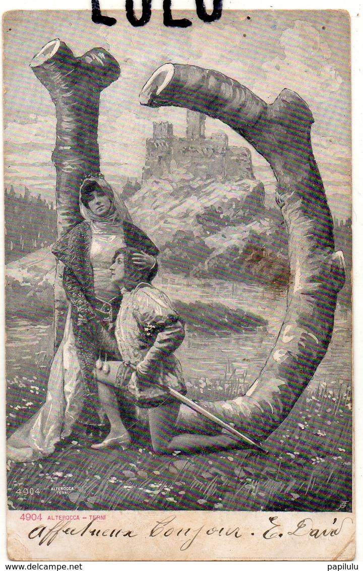 FEMMES 618 : Précurseur : Homme A Genou Devant Sa Belle Avec Son épée ; édit. Alterocca Terni 4904 - Femmes