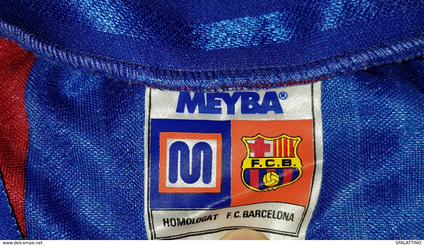 FC BARCELONA- ORIGINAL VINTAGE RARE MATCH WORN SHIRT IN GREAT CONDITION - Uniformes Recordatorios & Misc