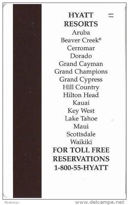 Hyatt Resorts - Hotel Room Key Card - Cartes D'hotel