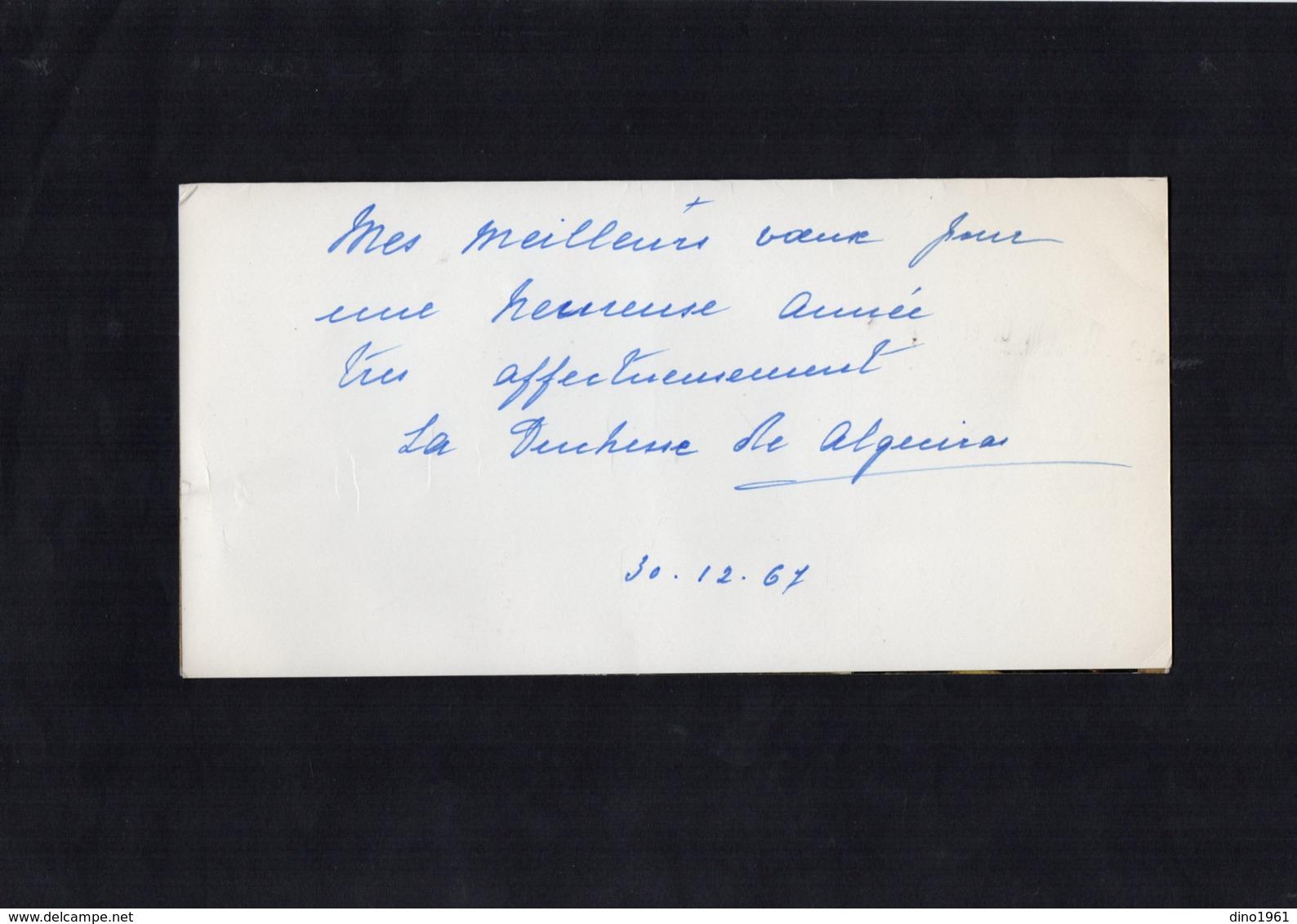 VP13.547 - MADRID 1967 - Noblesse - Autographe X 2 De Mme La Duchesse De ALGECIRAS - Autographes