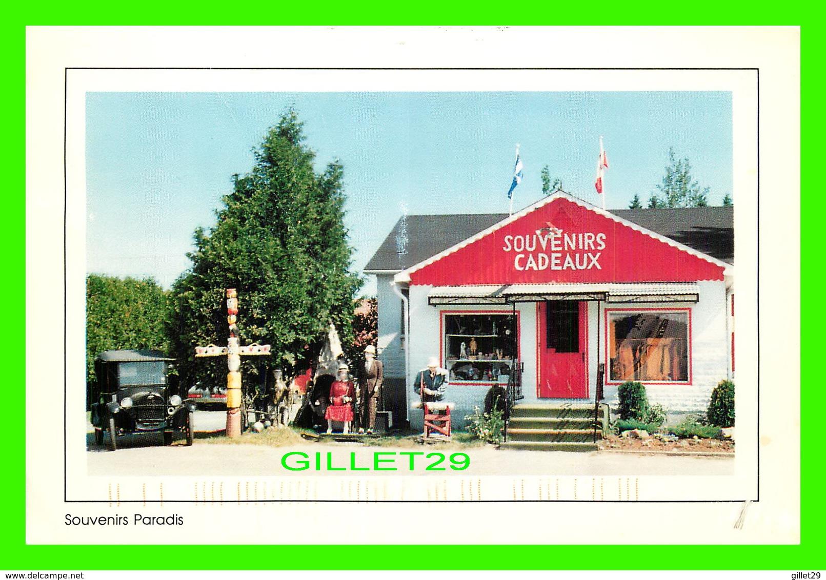SAINT-JOVITE, QUÉBEC - MAGASIN SOUVENIRS PARADIS - CIRCULÉE EN 1999 - - Quebec