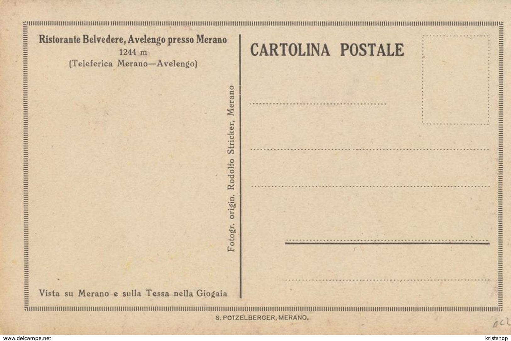 Merano - Ristorante Avenlengo Presse Merano [AA20-2.002 - Italie