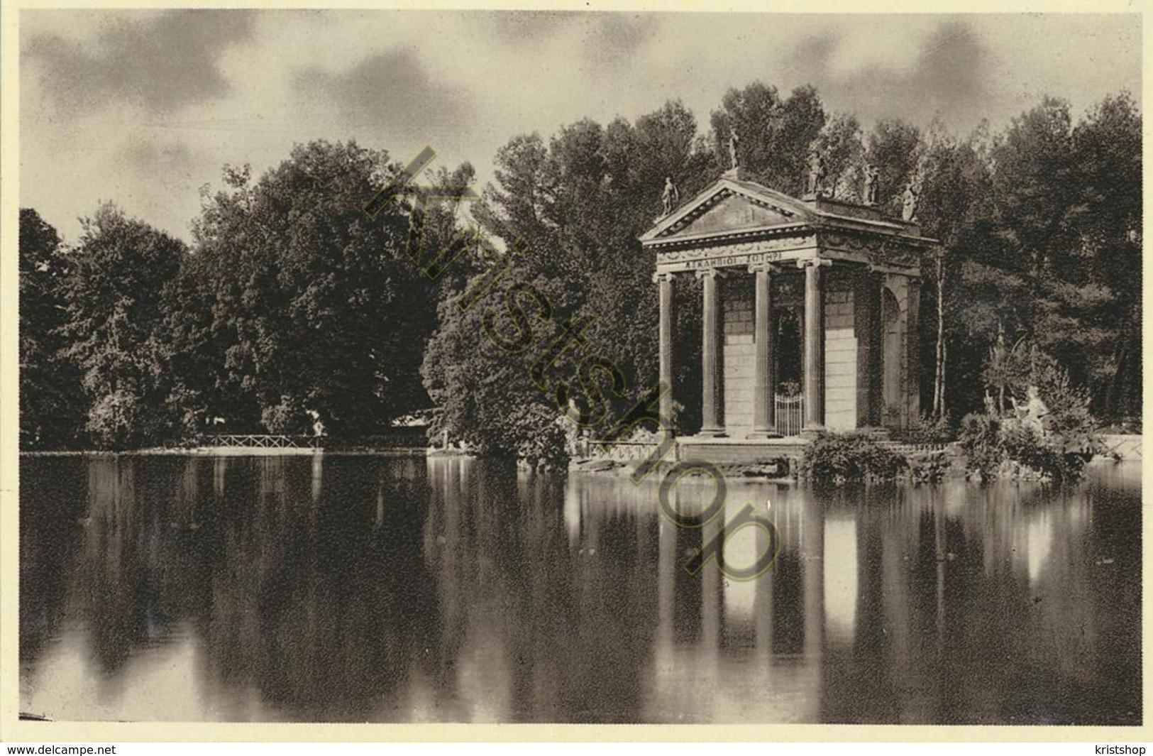 Roma - Tempio Di Esculapio Sul Lago Di Villa Borghese [AA20-2.148 - Italie