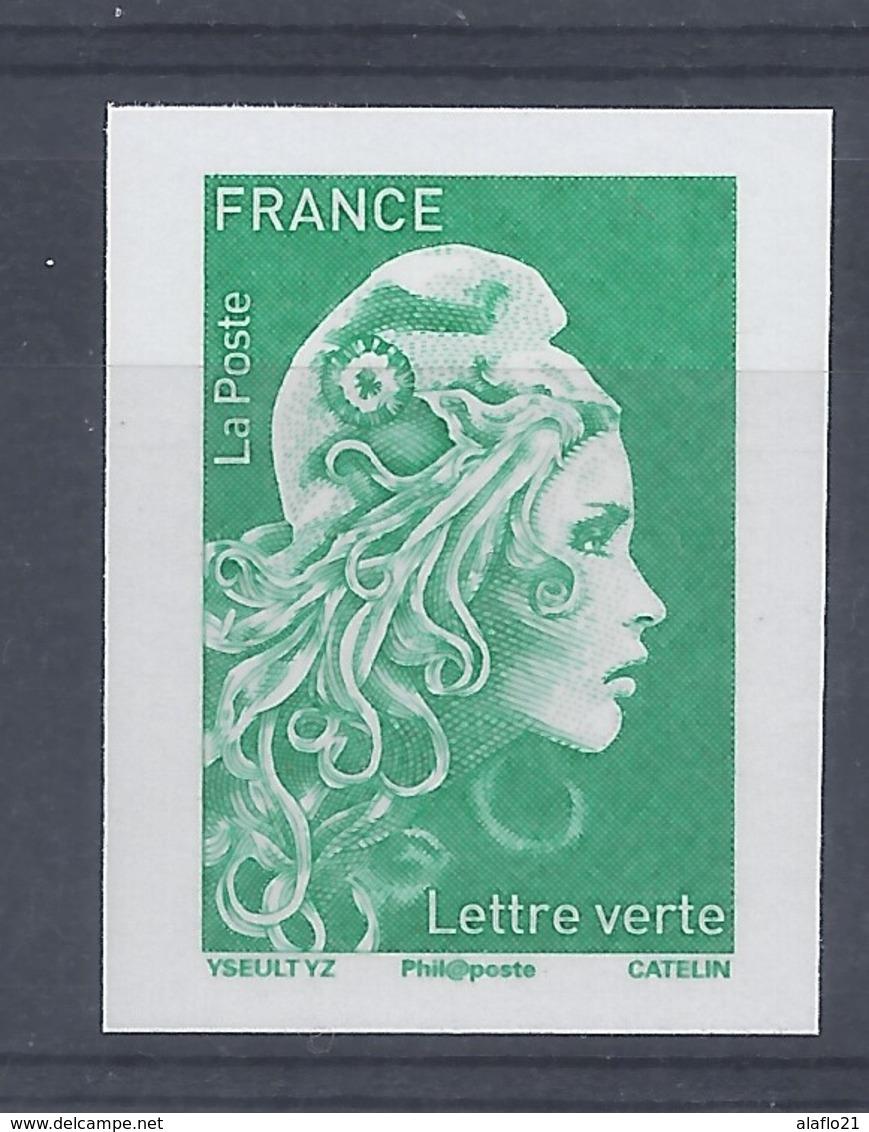 MARIANNE L'ENGAGEE - TIMBRE LETTRE VERTE - NON DENTELE - SALON AUTOMNE 2018 - 2018-... Marianne L'Engagée