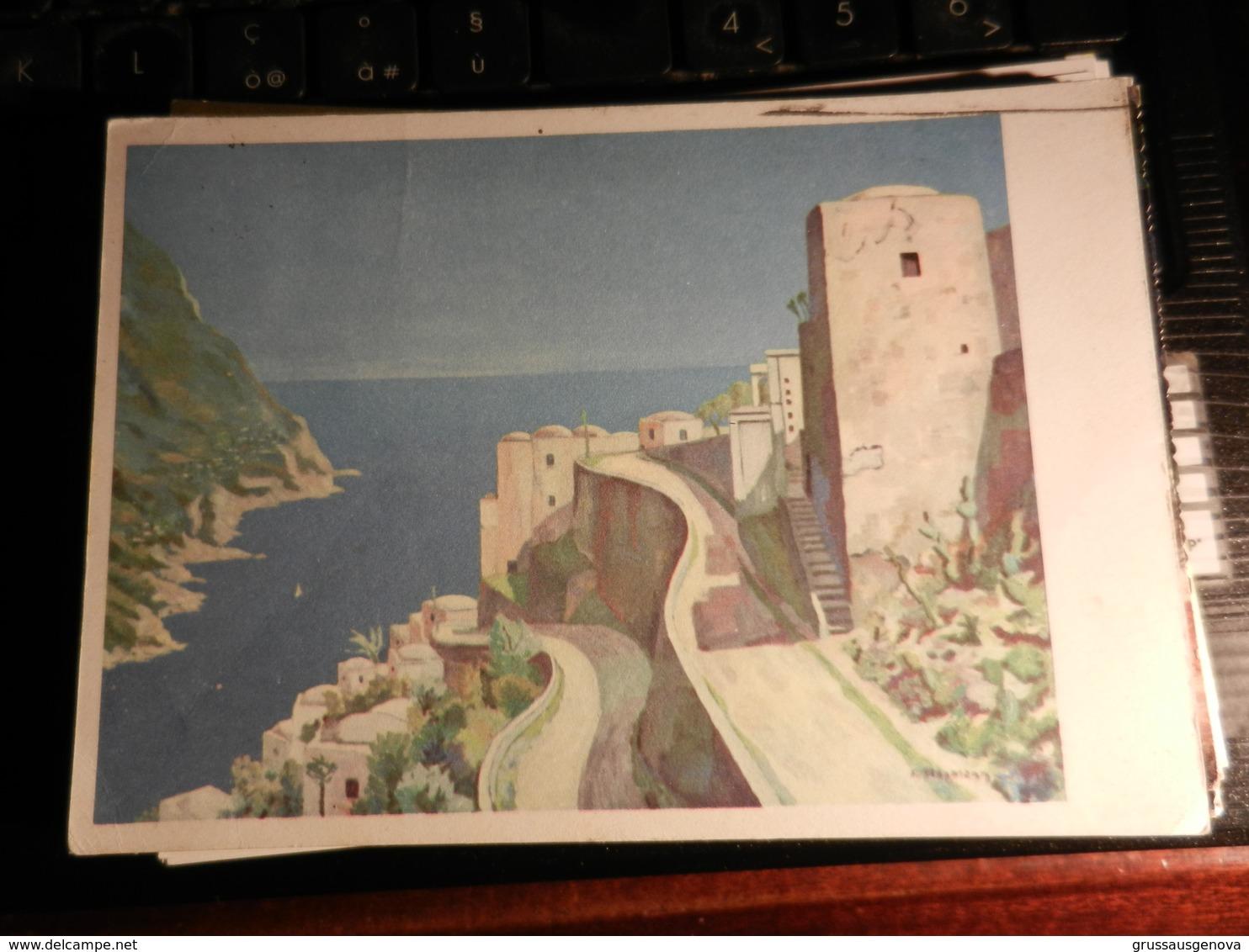 19826) LOTTO DI DUE CARTOLINE POSITANO E DA IDENTIFICARE (CON LEGGERA PIEGA) VIAGGIATE 1961 E 63 - Italie