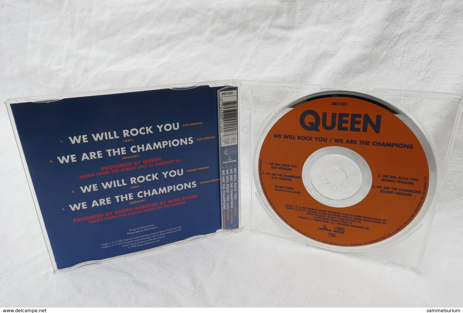 """CD """"Queen"""" We Will Rock You / We Are The Champions, Live At Wembley '86 - Rock"""