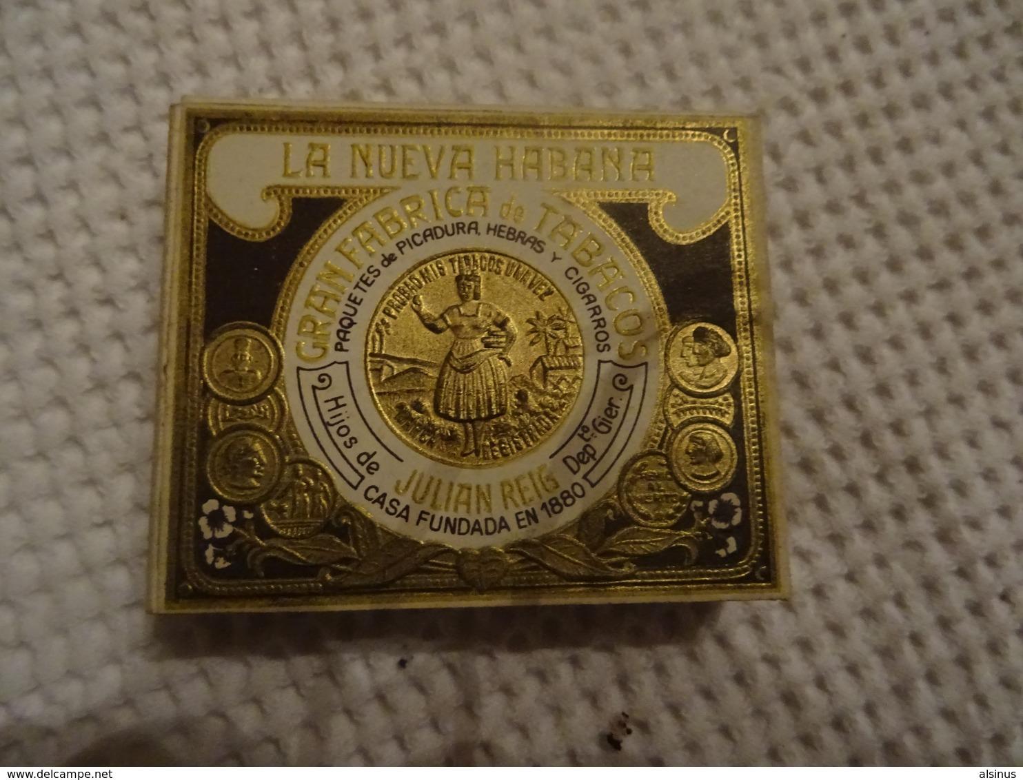 ETUI DE 20 CIGARILLOS VIDE - LA NUEVA HABANA - JULIAN REIG - Cigar Cases