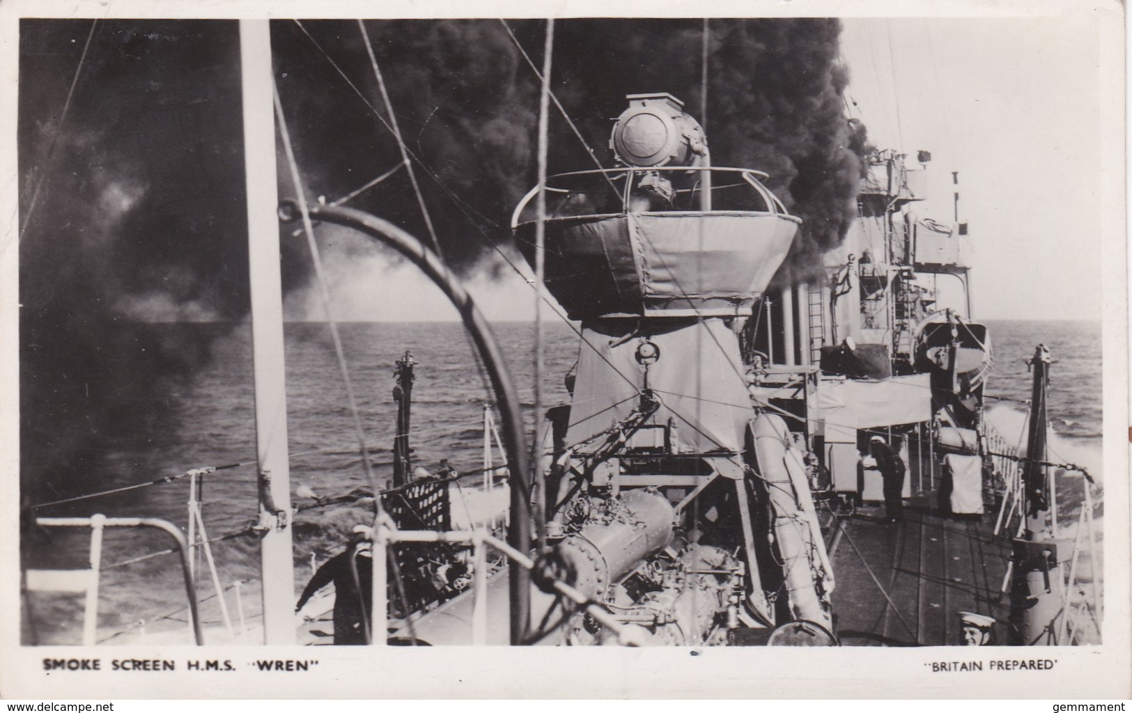 H.M.S. WREN - SMOKE SCREEN. BRITAIN PREPARED SERIES - Warships