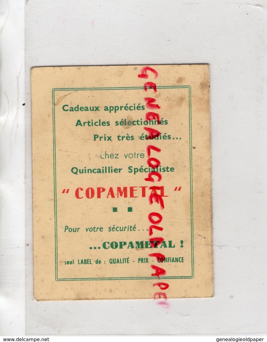 87 - BELLAC- RARE CARTE CALENDRIER 1960 QUINCAILLERIE CHARBONS ANTARGAZ-E. TERRADE ET FILS- COPAMETAL GAZ- - Calendriers