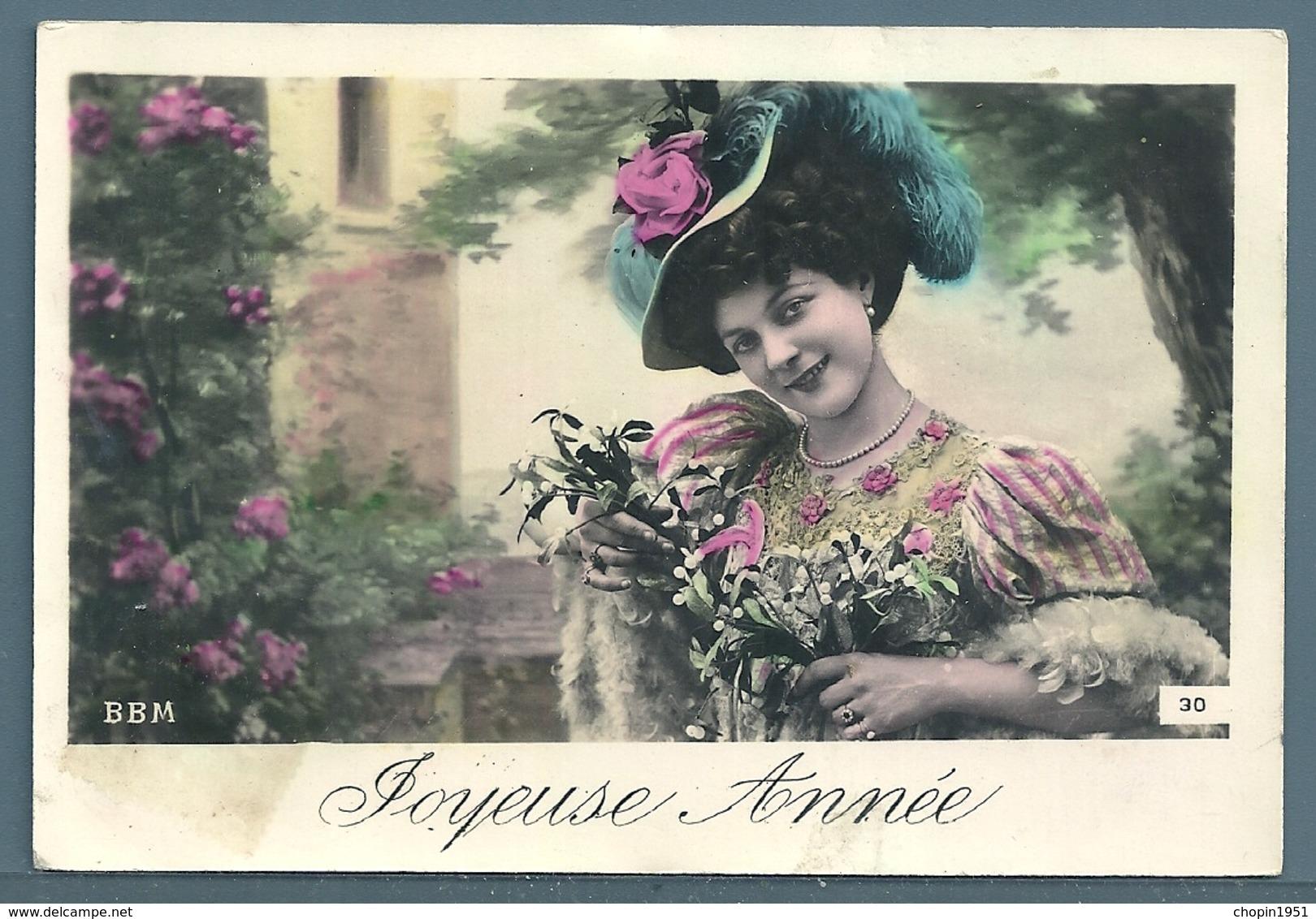 CPA - JEUNE FEMME - JOYEUSE ANNÉE - Femmes