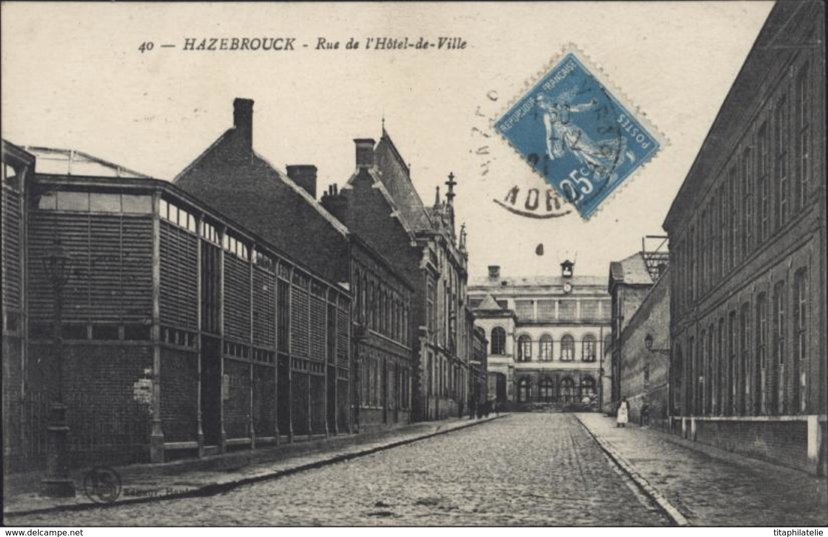 CP CPA Hazebrouck Rue De L'Hôtel De Ville 59 Nord CAD Hazebrouck Gare Du Nord 12 1921 - France