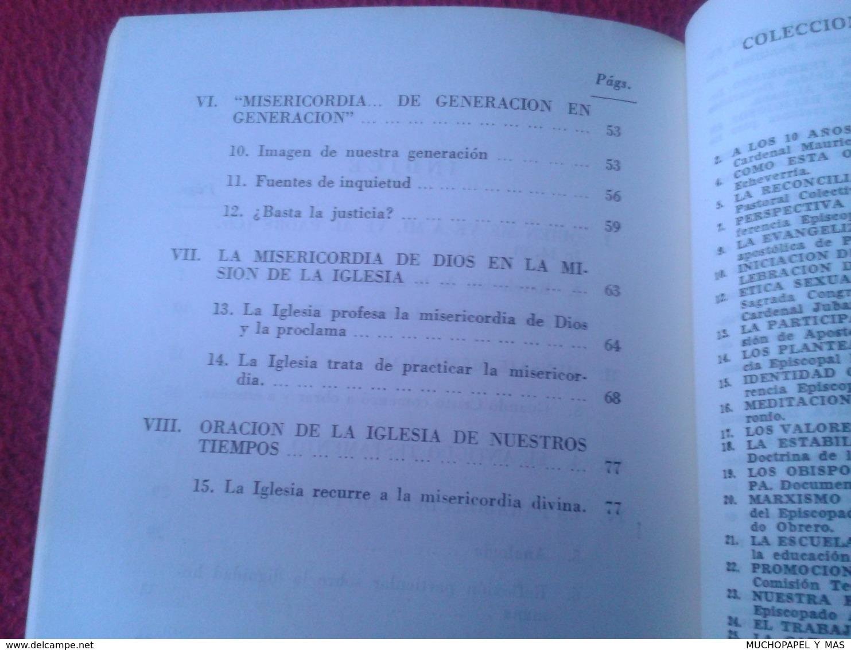 LIBRO DIVES IN MISERICORDIA CARTA ENCÍCLICA DE S.S. SU SANTIDAD PAPA JUAN PABLO II 1980 RELIGIÓN Karol Józef Wojtyła - Books, Magazines, Comics