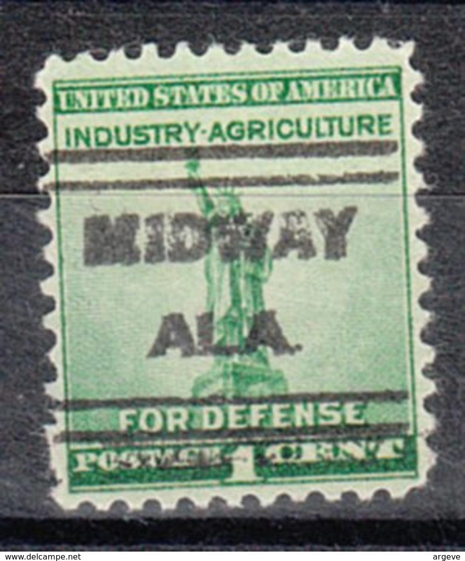 USA Precancel Vorausentwertung Preo, Locals Alabama, Midway 631 - Etats-Unis