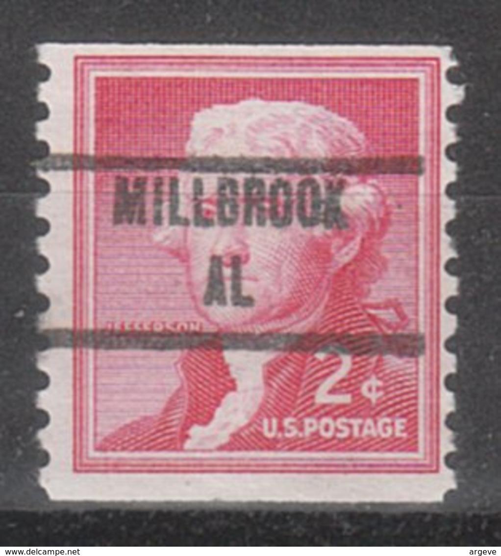 USA Precancel Vorausentwertung Preo, Locals Alabama, Millbrook 853 - Etats-Unis