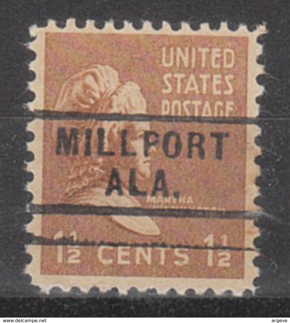 USA Precancel Vorausentwertung Preo, Locals Alabama, Millport 729 - Etats-Unis