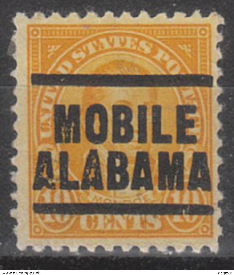USA Precancel Vorausentwertung Preo, Locals Alabama, Mobile 562-203 - Etats-Unis