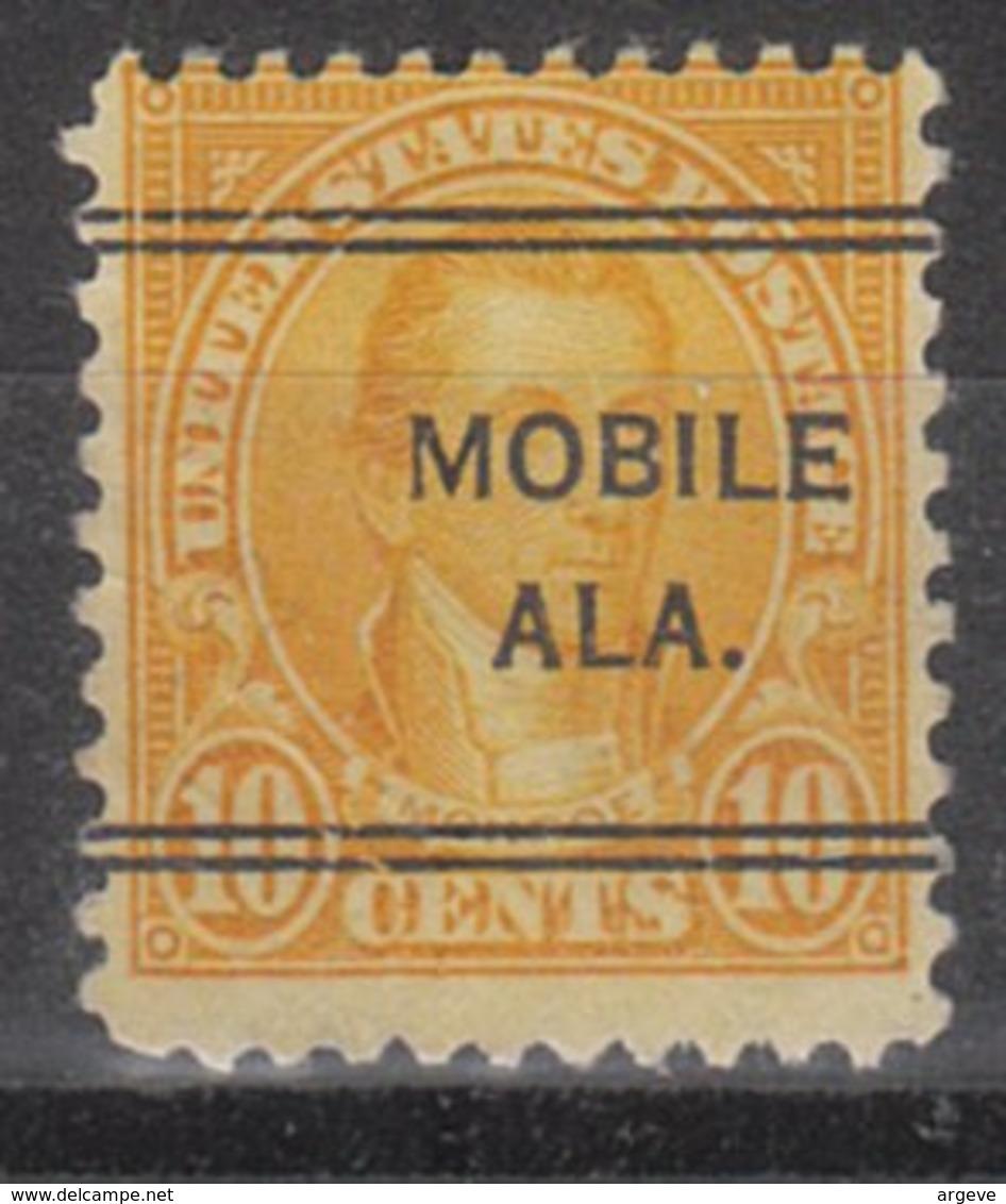 USA Precancel Vorausentwertung Preo, Locals Alabama, Mobile 642-243 - Etats-Unis