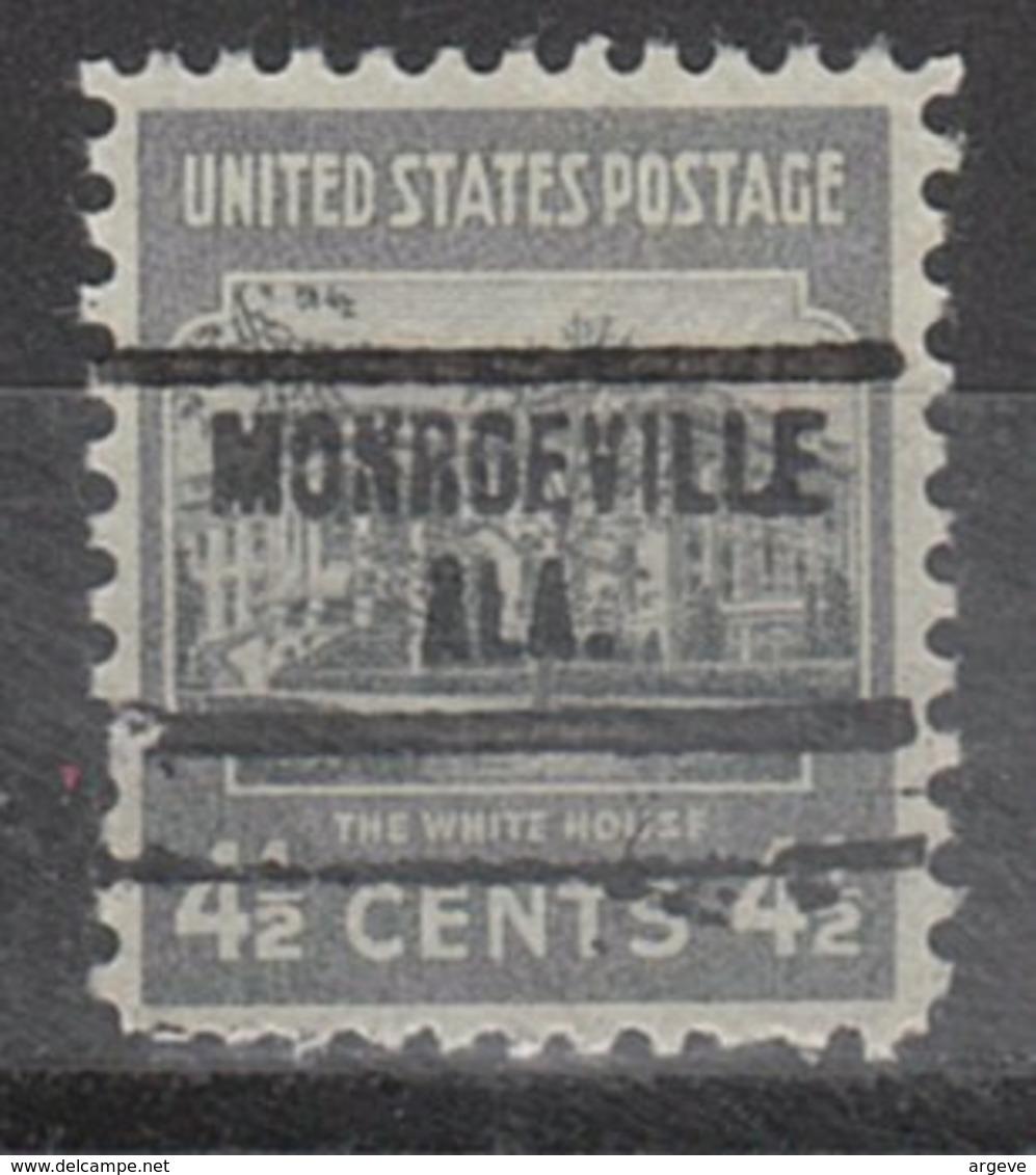 USA Precancel Vorausentwertung Preo, Locals Alabama, Monroeville 734 - Etats-Unis