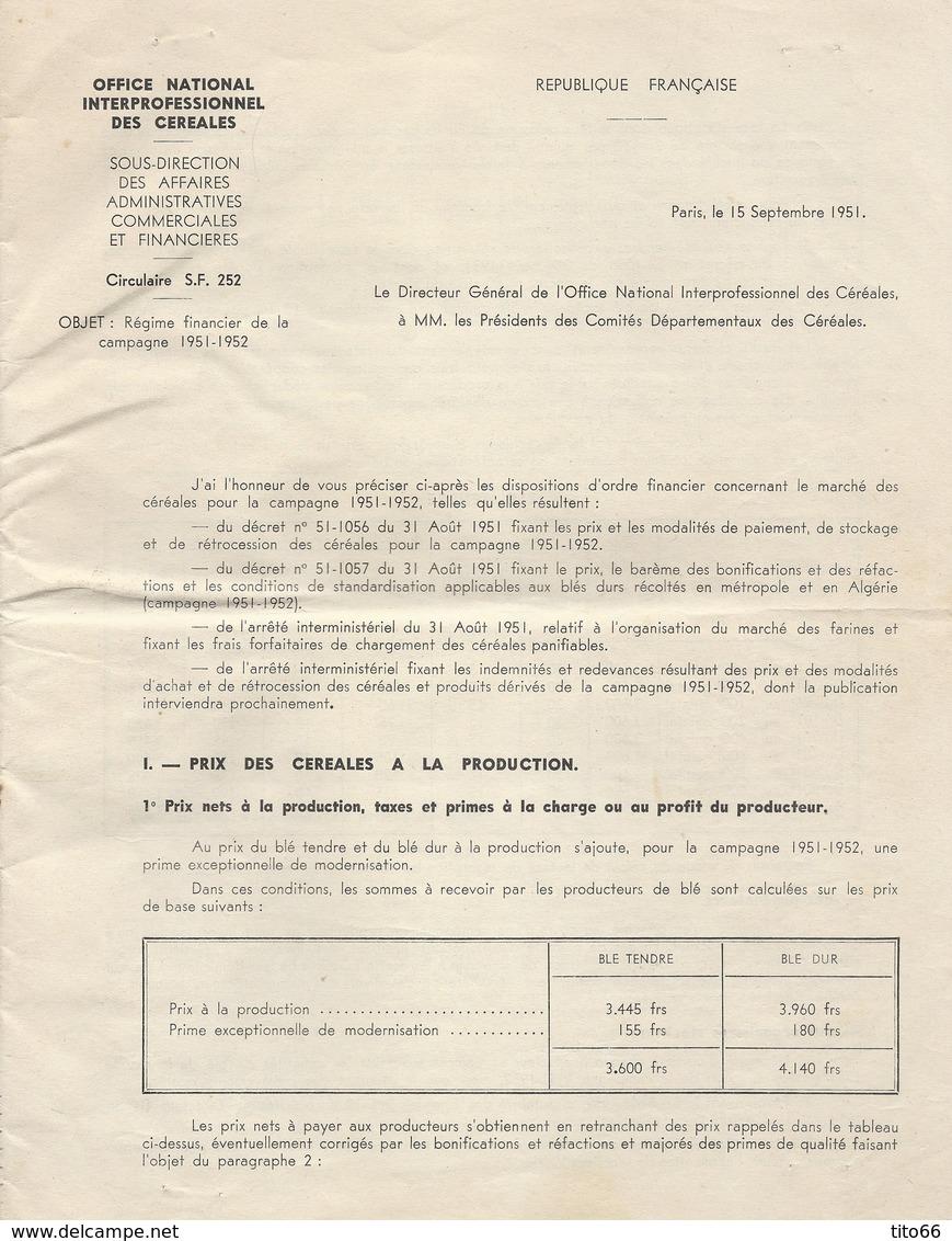 N° 809 En Paire Marianne De Gandon Sur Doc Imprimé Section Départementale De L' ONIC TAD Avignon 4/10/51 - Marcophilie (Lettres)