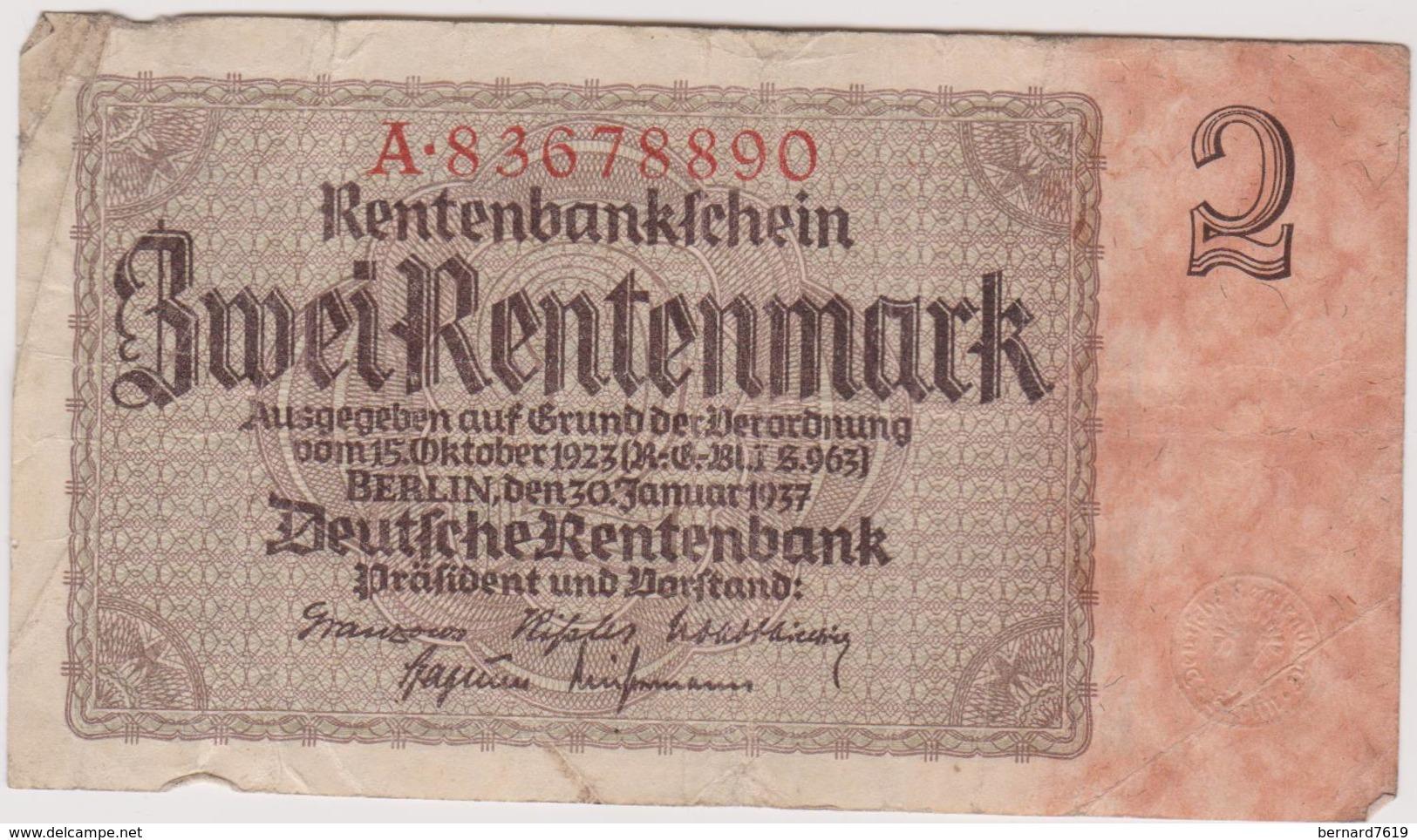 Allemagne Billet Allemand Iii E Reich - [ 4] 1933-1945 : Terzo  Reich