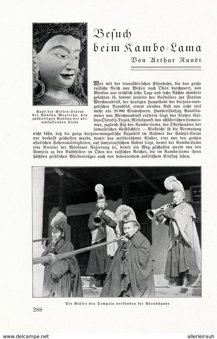 Besuch Beim Kambo-Lama / Artikel, Entnommen Aus Zeitschrift / 1933 - Bücher, Zeitschriften, Comics
