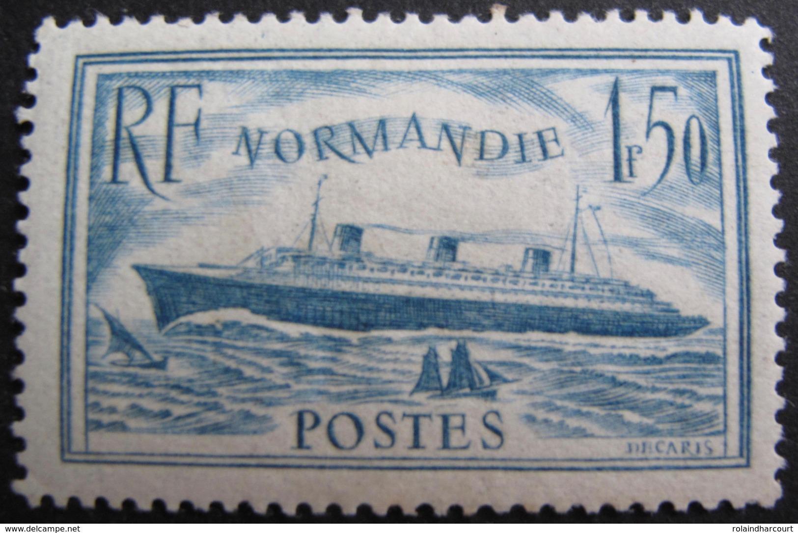 R1680/197 - 1935 - PAQUEBOT NORMANDIE - N°300 NEUF* - Cote : 70,00 € - France