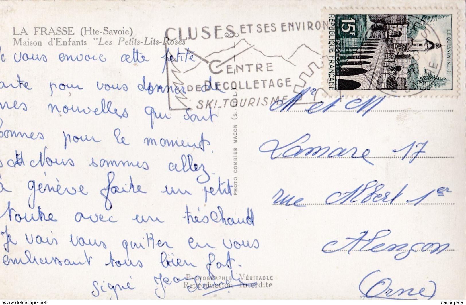 """Carte 1950 LA FRASSE / MAISON D'ENFANTS CHALET """"LES PETITS LITS ROSES """" - France"""