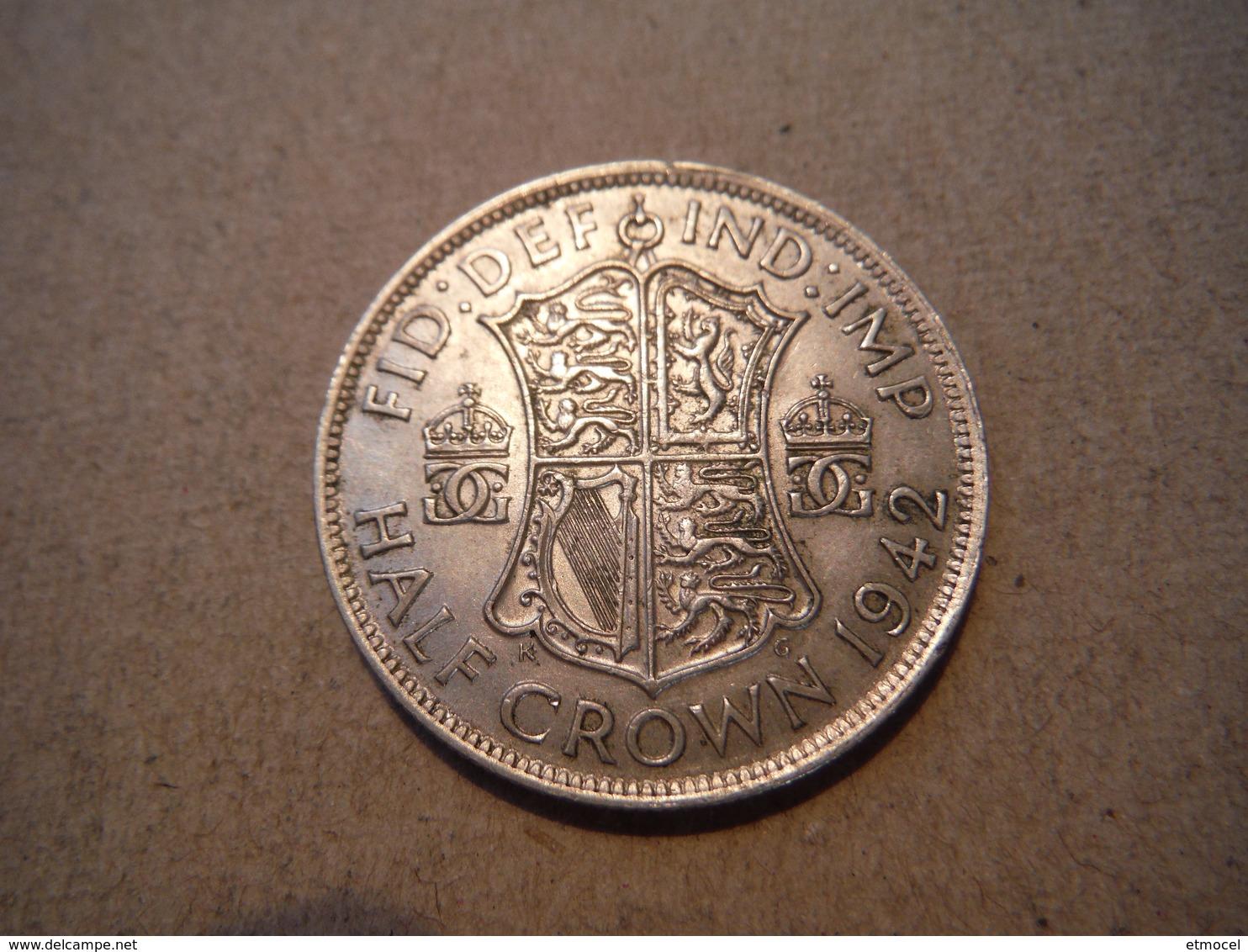 M29  Half Crown George VI  1942  Silver - 1902-1971 : Monnaies Post-Victoriennes
