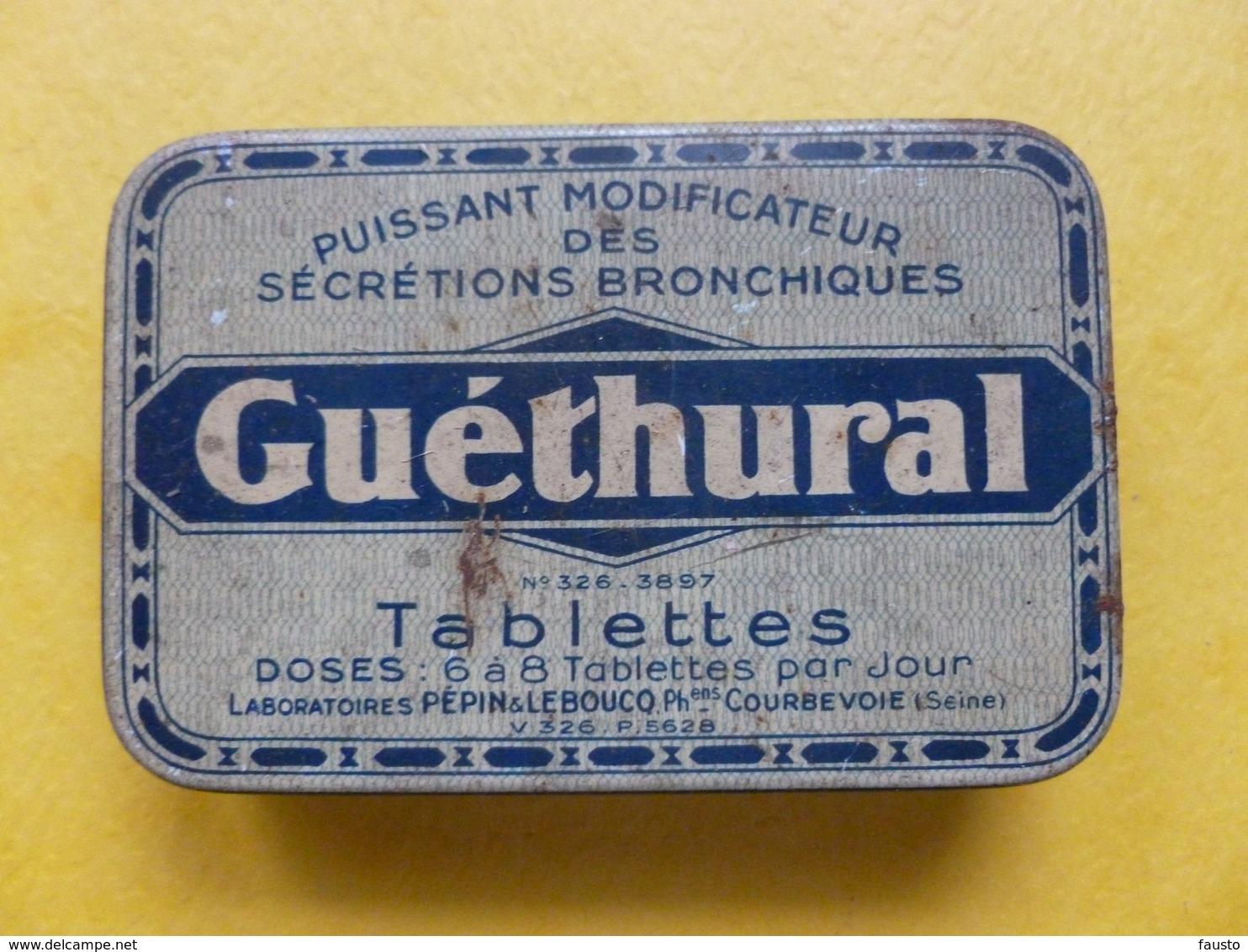 Boite Médicaments Ancienne  Guéthural Secretions Bronchiques - Matériel Médical & Dentaire
