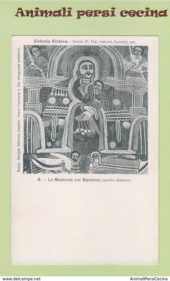 AFRICA ORIENTALE - ERITREA - COLONIA - MADINNA COL BAMBINO - CARTOLINA - LT60-032 - Eritrea