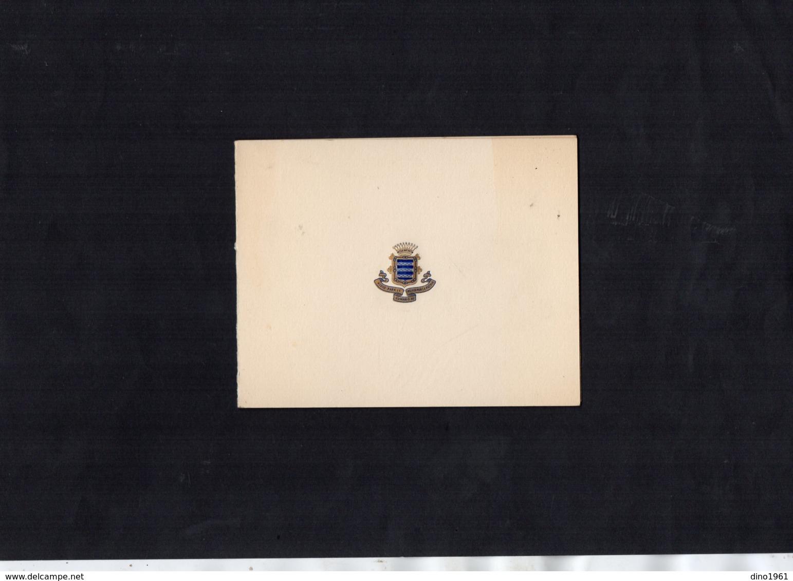 VP13.559 -  PARIS 1960 / 61 - Carte De Voeux - Mr L'Ambassadeur D'Espagne & La Comtesse De MOTRICO - Old Paper